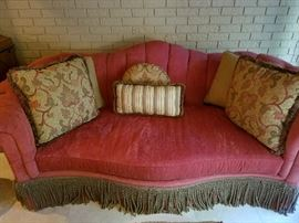 Hollywood Red Velvet Sofa