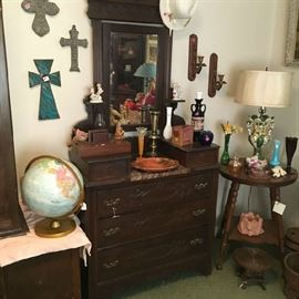 Eastlake dresser & round table