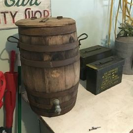 Early wooden barrel with lid