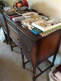 Side board and costume Jewelry