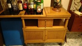 bar serving cart on casters