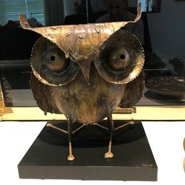 Brutalist Owl by C. Jere - 1968