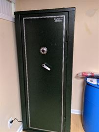 Zanotti Armor Gun Safe. Purchased New for $2100. Every side detaches so that it is very easy to move.  There is a 16 week back order of these safes.  www.zanottiarmor.com
