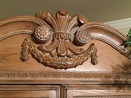 Carved bedroom furniture