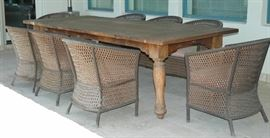 Custom 9ft Teak Table