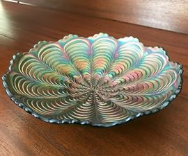 Carnival glass bowl