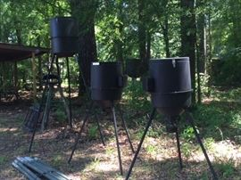 Feeders and deer stands