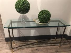 Glass entry or sofa table