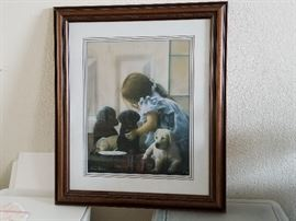 Kevin T. Daniel, Puppy Love, Limited Edition Print