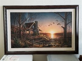"""Terry Redlin Canvas Print """"Comforts of Home"""" Legacy Edition"""