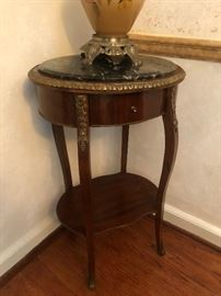 Petite Marble top Louis the something style entry/side table
