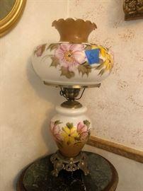 Fenton style lamp
