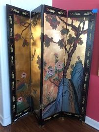 Beautiful Chinoiserie  Screen both sides