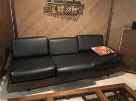Mid Century Black sofa