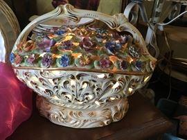 Vintage Capodimonte Lamp