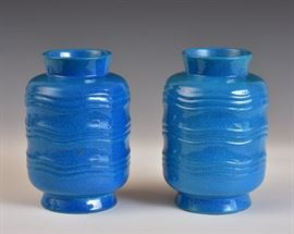 Pair of Boch Freres Vases