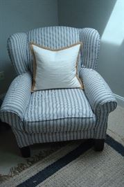 Mitchell gold occasional chair with slip covers.