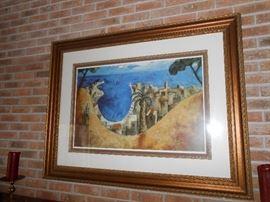 larged framed art