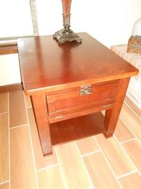 solid wood end tables - pair