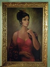Barbara Weber painting of a Spanish Lady