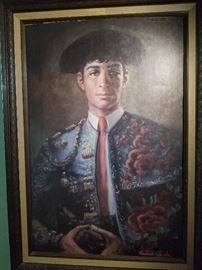 Barbara Weber painting of a Matador