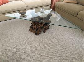 Glasstop Petrified Wood Coffee Table
