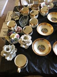 Fine china and copodimonte' and hand painted plates...
