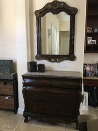 entry hall drawer cabinet and mirror