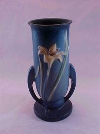 Roseville pottery vase.
