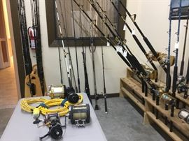 Penn, Triton, Shimano rods and reels