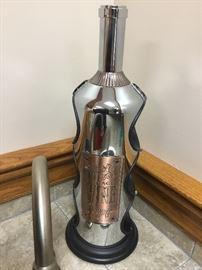 Wine rack wine bottle shaped