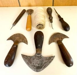 Nice Lot Of Antique Leather Working Hand Tools