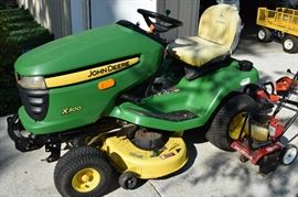 2007 John Deere X300 Lawn Tractor with 374 hours. One owner