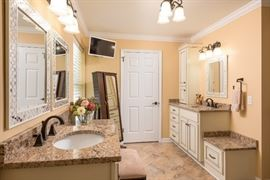 Updated and upgraded master bath