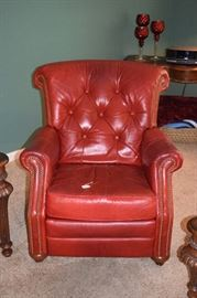 Lazyboy Leather Recliner Red