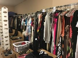 Ladies we have racks and racks of new and preowned apparel sizes S-m-l