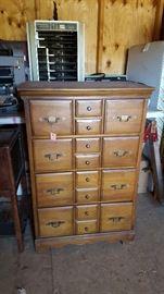 Dresser with matching smaller dresser and mirror