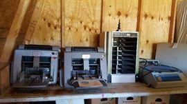 Very vintage office machines