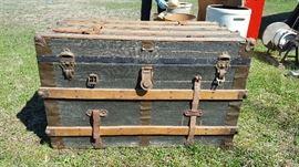 Large steamer trunk