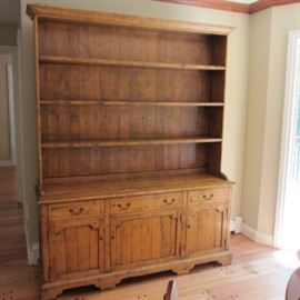BEAUTIFUL LARGE DISTRESSED PINE COUNTRY HUTCH! NEW, BUT LOOKS OLD!