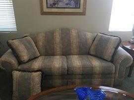 1 of 2 Gray Striped sofas