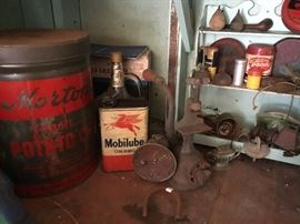 Many antique finds.