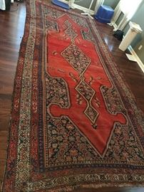 Large antique rug, 18' in length