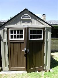 Outdoor shed.