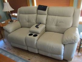 Leather Power Console Loveseat Torino Collection
