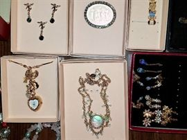 Costume jewelry. Lots of good quality treasures. Lots from QVC. Joan Rivers, Kirk's Folly and more's