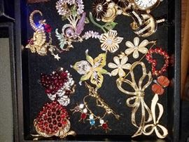 Costume jewelry and some sterling jewelry Lots of good quality treasures. Lots from QVC. Joan Rivers and Kirk's Folly. Some Nolan Miller, Bob Mackie, Judith Ripka, Norman Miller, Mariana and more
