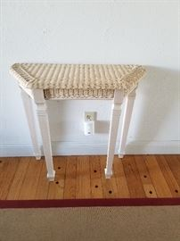 Wicker foyer table