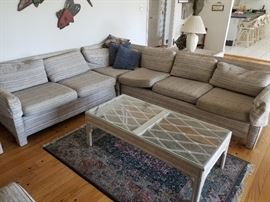 Sectional sofa and two ottomans (not pictured)