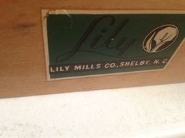 Lily Loom Lily Mills Co., Shelby NC